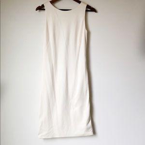 AKRIS Bergdorf Goodman Silk Ruched Off-White Dress